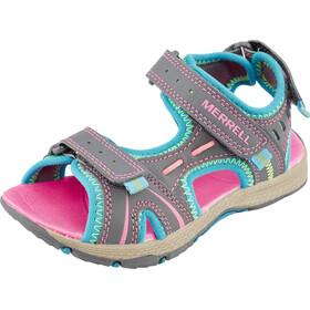 Merrell Panther Sandaler Børn grå/pink